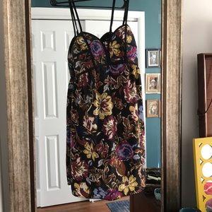 Black floral flows dress